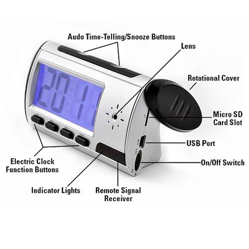 ساعت دیجیتال رومیزی دوربیندار – ساعت دیجیتالی رومیزی با دوربین مخفی – camera clock