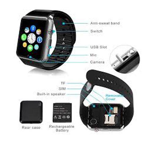 ساعت Smart Watch – ساعت smart watch و گوشی موبایل ساعتی طرح iwatch اپل، مدل GT08