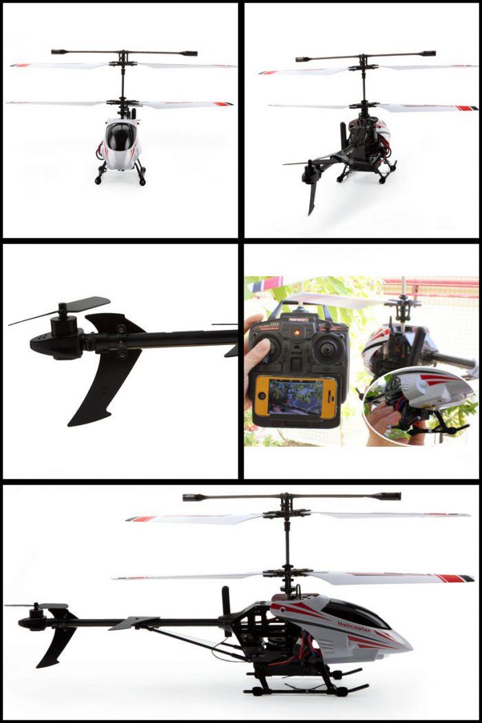 هلیکوپتر دوربین دار HD با قابلیت فیلمبرداری از ارتفاع بالا و مشاهده آنلاین تصاویر از طریق شبکه وای فای با گوشی های هوشمند اندروید و اپل. فروشگاه دوبال