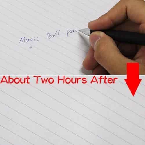 خودکار جادویی با جوهر محو شونده در عرض دو ساعت