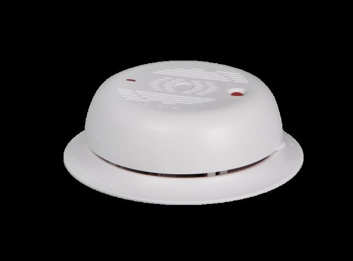 سنسور تشخیص دود بیسیم با قابلیت پشتیبانی از دوربین های هوشمند مداربسته و بدون نیاز به کابل کشی در محیط با کارکرد باتری کتابی 9 ولتی. فروشگاه دوبال